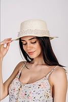 Шляпа канотье FAMOS Вивиан Молочный (0002676)