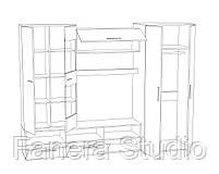 Комплект меблів в вітальню з ЛДСП, фото 4