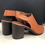 Босоножки сандалии женские кожаные коричневый BRENDA, фото 4