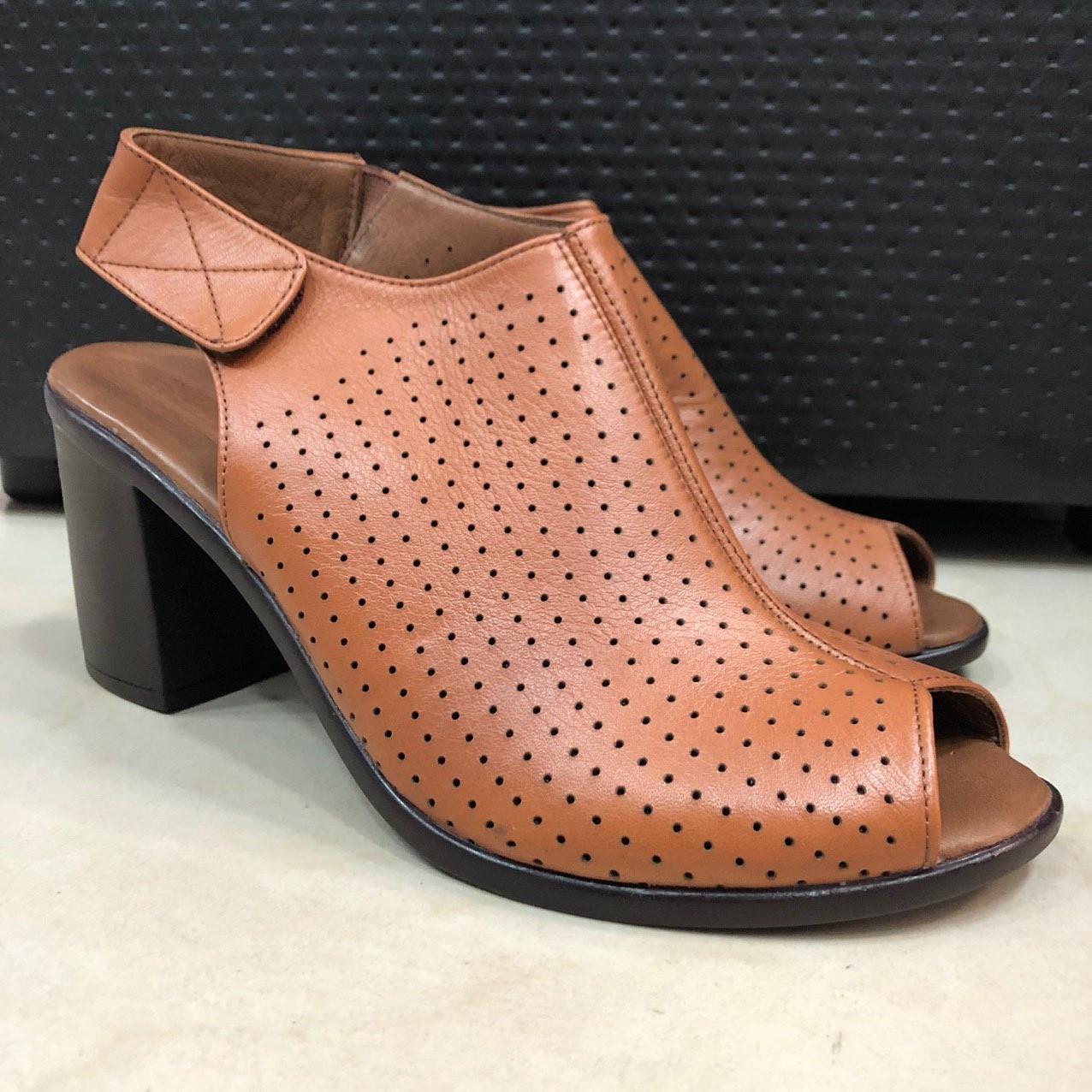 Босоножки сандалии женские кожаные коричневый BRENDA