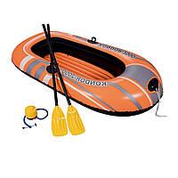 Полутораместная надувная лодка Bestway 61062 Kondor 2000 Set, 188 х 98 см, с веслами и насосом