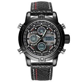 Часы Amst 3022 All Black Fluted Wristband SKL39-225141