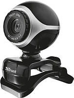 Веб-камера Trust Exis Webcam Black/Silver