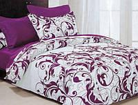 Двуспальный набор постельного белья Черешенка Gold №159945AB 180х220 Бязь Фиолетовый (BC2G159945AB)