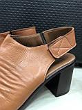 Босоножки сандалии женские кожаные коричневый BRENDA, фото 3