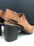 Босоножки сандалии женские кожаные коричневый BRENDA, фото 2