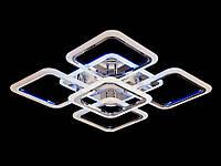 LED-люстра с димером и цветной подсветкой цвет хром 120W Diasha&A8060/4+1HR LED 3color dimmer