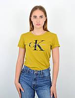 Женская футболка оверсайз оптом ОS0103 Горчичный