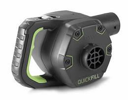 Насос электрический Quick-Fill, 12 В, с аккумулятором, 3 насадки в комплекте | Электронасос Intex