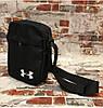 Мужская сумка через плече ,барсетка стильная цвет черный