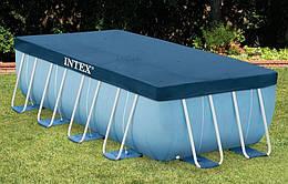 Тент для каркасного бассейна Rectangular Frame 389х184 см (выступ 20 см) | Тент-чехол для бассейна Intex