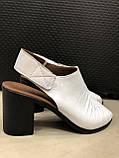 Босоножки сандалии женские кожаные белые BRENDA, фото 2