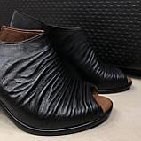 Босоножки сандалии женские кожаные черные BRENDA, фото 2