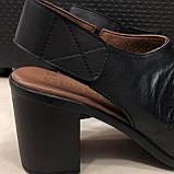 Босоножки сандалии женские кожаные черные BRENDA, фото 3