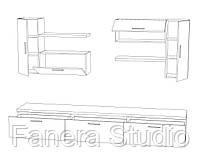 Комплект меблів у вітальню з ЛДСП, фото 3