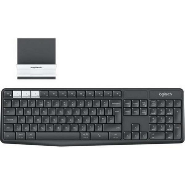 Клавіатура бездротова Logitech K375s Multi-Device Wireless Keyboard and Stand Combo - GRAPHITE / OFF