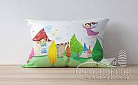"""Детская подушка с фото """"Домики"""""""