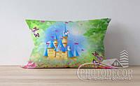 """Детская подушка с фото """"Замок и бабочки"""""""