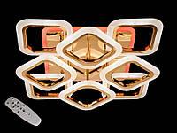 LED-люстра потолочная с пультом управления цвет золотистый Diasha&AS8060/4+4G LED 3color dimmer