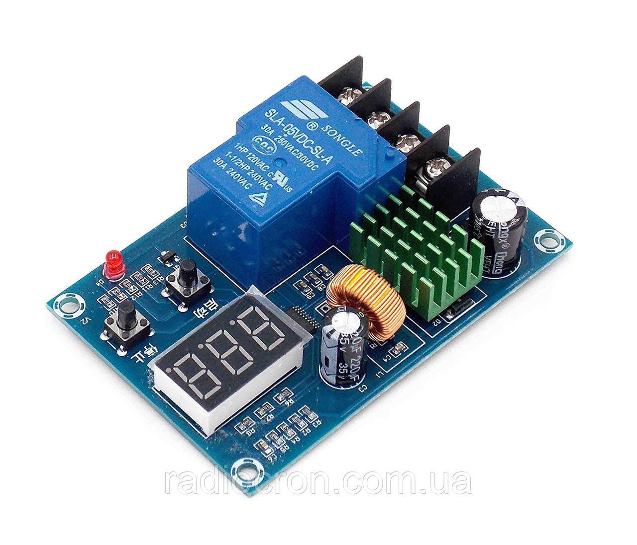 XH-M604 - Универсальный 6...60В контроллер заряда аккумуляторных батарей с индикатором