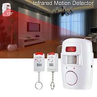 Инфракрасный датчик движения eMastiff С105, детектор движения, беспроводная сигнализация + 2 пульта