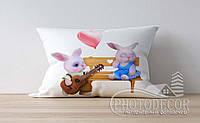 """Детская подушка с фото """"Зайчики"""""""