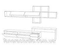 Комплект мебели в гостиную из ЛДСП, фото 4