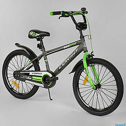 """Подростковый велосипед 20 дюймов Corso Aerodynamic ST 20"""" с усиленными спицами"""