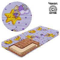 Матрас Беби-Текс 1 - Мишка на луне 13312 фиолетовый SKL11-252767