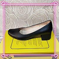 Женские классические туфли  натуральная кожаные  низкий каблуке