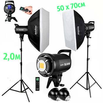 1,2kW Комплект Godox LED  профессионального постоянного видеосвета LED SL60-2SB57 KIT