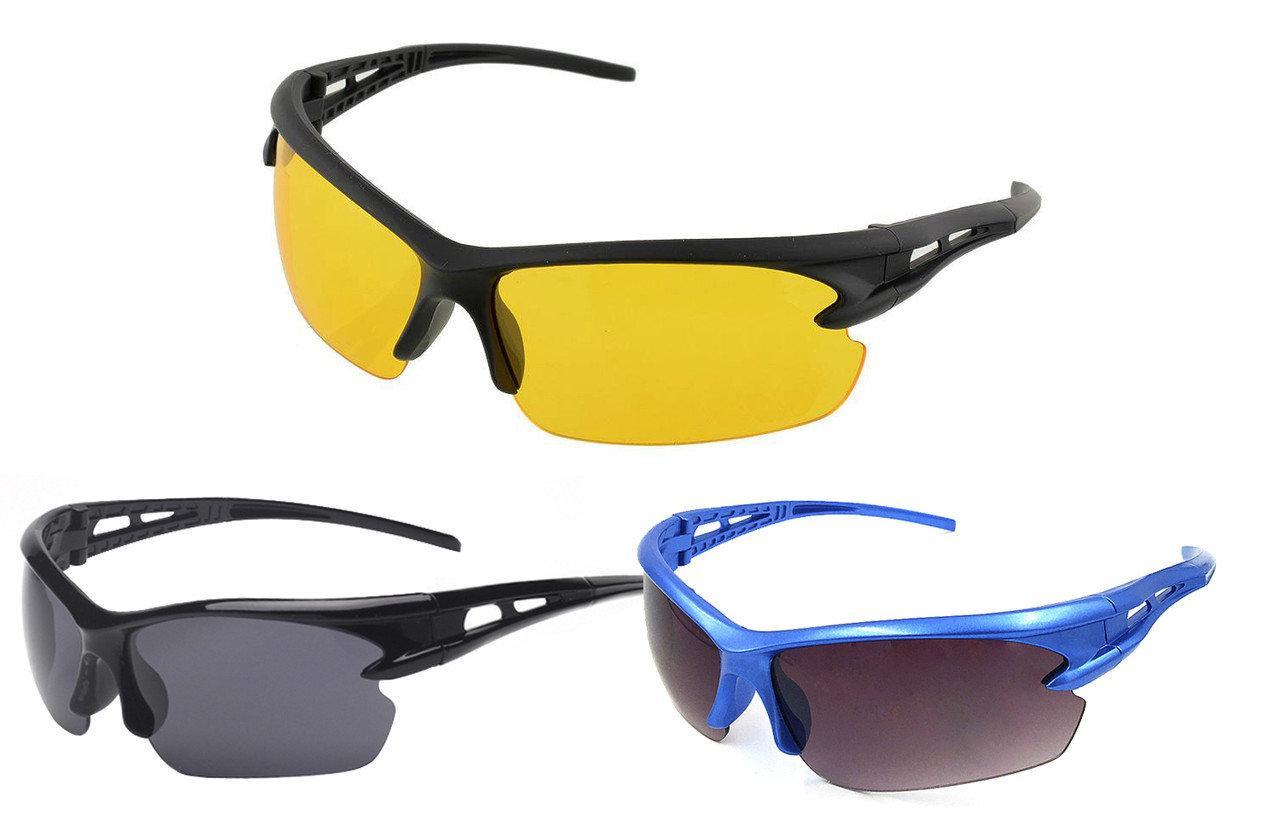 Окуляри з захистом від ультрафіолету (для рибалок, велосипедистів, туристів, мисливців)