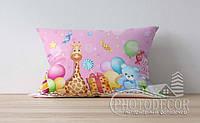 """Детская подушка с фото """"Игрушки с конфетками"""""""