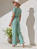 Повседневный брючный комплект с блузкой ЛЕТО, фото 2