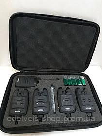 Набор сигнализаторов с пейджером Weida 214-4 (4 сигнализатора +пейджер)с системой антивор