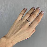 Шикарный Серебряный набор женских украшений с золотыми вставками пластинами - серьги, кольцо и браслет Ультра, фото 3