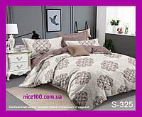 Двуспальный комплект постельного белья из хлопка на молнии Двоспальний комплект постільної білизни  S325