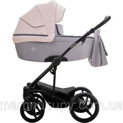 Дитяча універсальна коляска 2 в 1 Bebetto Torino 2019 04 Рожевий Сірий / Чорна рама