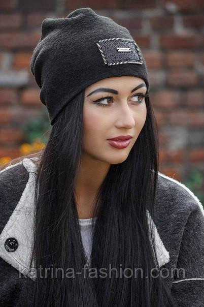 Женская стильная теплая шапка с пайетками (расцветки)
