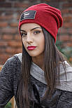 Женская стильная теплая шапка с пайетками (расцветки), фото 3