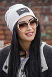 Женская стильная теплая шапка с пайетками (расцветки), фото 4