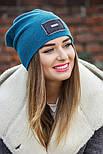 Женская стильная теплая шапка с пайетками (расцветки), фото 5