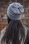 Женская стильная теплая шапка с пайетками (расцветки), фото 6