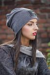 Женская стильная теплая шапка с пайетками (расцветки), фото 7