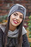 Женская стильная теплая шапка с пайетками (расцветки), фото 8