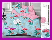 Двуспальный комплект постельного белья из хлопка на молнии Двоспальний комплект постільної білизни  S315