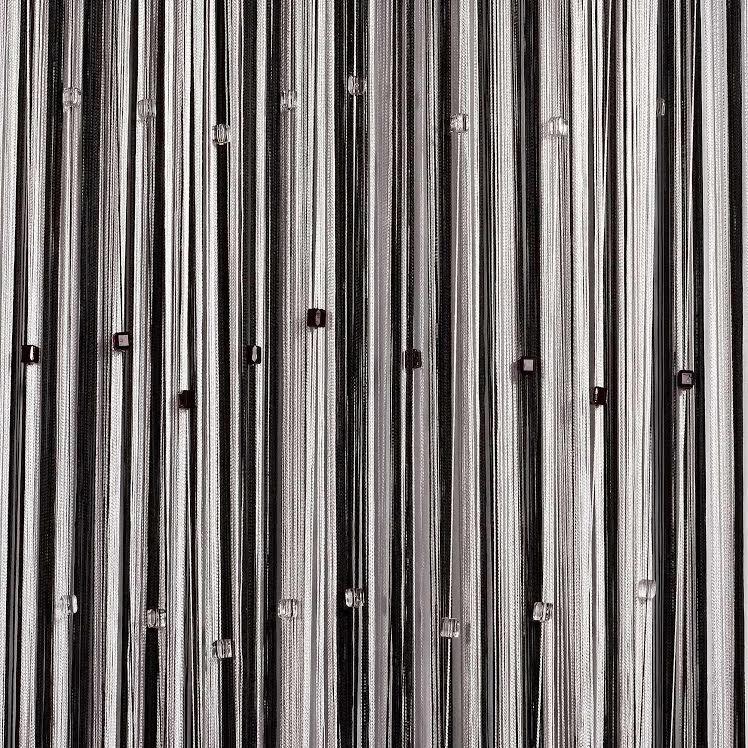 Шторы нити Радуга с квадратным стеклярусом №1+9