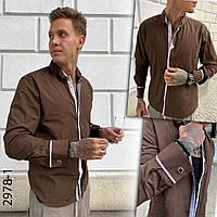 Коричневая мужская рубашка Afish 2978-1,Турция