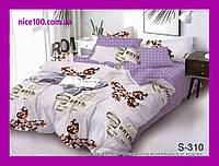 Двуспальный комплект постельного белья из хлопка на молнии Двоспальний комплект постільної білизни  S310