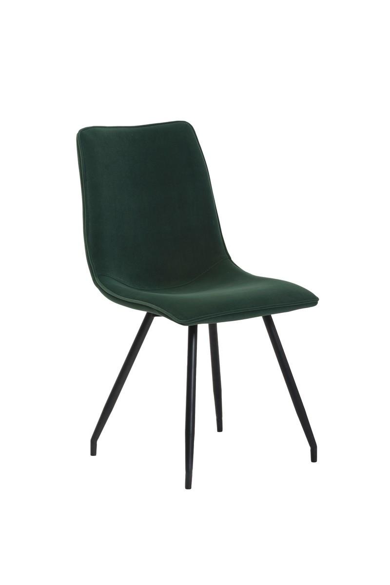 Стул мягкий  N-76 темно-зеленый матовый вельвет + крашеный металл (черный)